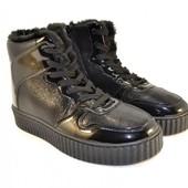 Ботинки на рифленой подошве Т160