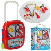 Игровой набор Доктор  с тележкой и бейджиком, в чемодане
