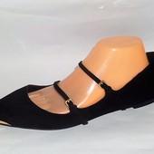 41 Замшевые шикарные туфельки Zara