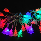 Гирлянда светодиодная елочки 40 LED мульти 5,8 метров