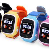 Детские умные часы с GPS q90s (q100), цвета в ассортименте
