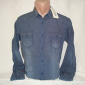 Мужская приталенная рубашка с длинным рукавом Long Wave.