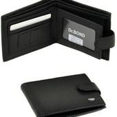 Мужской кожаный кошелек портмоне Dr.Bond В наличии разные модели