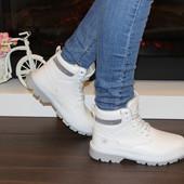 Женские зимние ботинки. Цвет белый Р.36-41