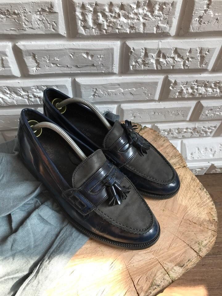 Мужские туфли-лоферы, кожа,р-р 42,5 фото №1