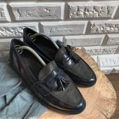Мужские туфли-лоферы, кожа,р-р 42,5