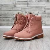 розовые зимние ботинки Ba|main