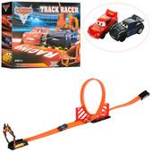 Игровой авто-трек Тачки 8003 со пиральными горками, 2 инерц. машинки, маквин, аналог Hot wheels