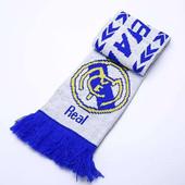 Шарф зимний для болельщиков двусторонний Real Madrid 6028: длина 145см