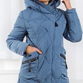 Размеры 48-56 Теплая зимняя женская длинная куртка пуховик