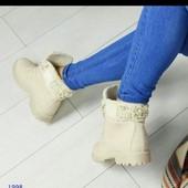Женские ботинки типа тимберленды. Осень зима