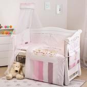 Детский постельный набор в кроватку Twins Dolce, 8 предметов. Разные цвета.