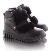 Короткие ботинки на танкетке 16703-4