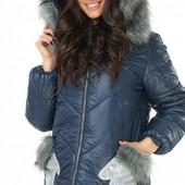 Размеры 42-54 Зимняя женская куртка с мехом