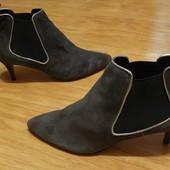 Утеплені черевички  Andre з натурального замшу р.38.