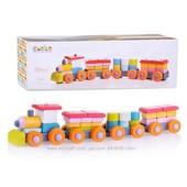 Детский деревянный конструктор — поезд  Артикул конструктора Cubika 11681 LP-1