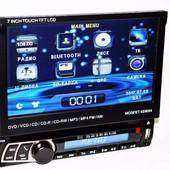 1din магнитола pioneer 712 gps,  usb,  dvd, tv, bluetooth + 8gb карта памяти рта памяти c навигацией