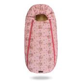 Baby XS ДоРечі™ розовый (медведик и мышка). Конверт - кокон на овчине.