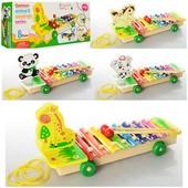 Качественная деревянная игрушка Ксилофон 3057
