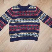 Теплый и яркий свитерок на 5-6 лет