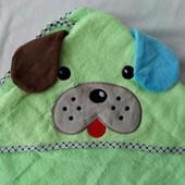 Уголок полотенце для купания детский для новорожденных