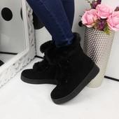 Зимние замшевые ботинки. Польша.Р.36-40