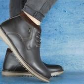 Ботинки Yuves 333 кожаные на меху, р. 40-45. код gavk-10544
