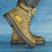 Ботинки Riccone кожаные на меху, р. 40-45. код gavk-10541