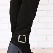 Ботинки зимние кожаные на меху, р. 36-40 код nvk-2876