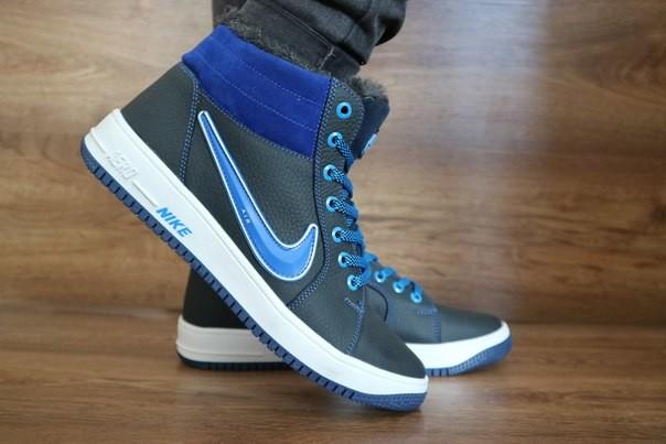 Мужские зимние кроссовки nike синие фото №1 7667fea726082