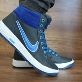 Мужские зимние кроссовки Nike Синие