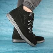 Мужские зимние ботинки Clarks black