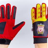 Перчатки вратарские юниорские Liverpool 0028-06: размер 6-8