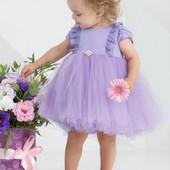 Zironka, Нарядное сиреневое платье с рюшами, платье на новый год