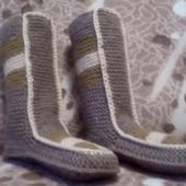 Вязаные носки-сапожки ручной работы, в наличии