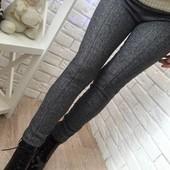 5П720 Женские шерстяные лосины-брюки с широким поясом (42-44 р)