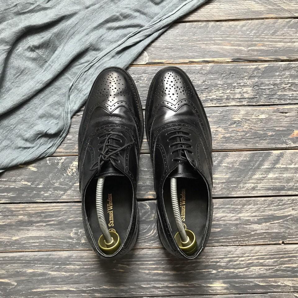 Натуральные туфли броги Samuel Winsdor р-р 41-42 фото №1