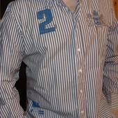 Брендовая стильная нарядная рубашка Milano.Италия . л-хл .