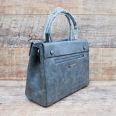Новинка Шикарная деловая серая  женская сумка с длинным ремнем