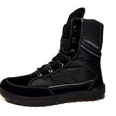 Ботинки/Берцы мужские черного цвета (БД-15)