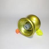Йо йо металлическое с подшипником  цвет золотистый