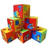 Кубики мягкие 6 Математика 125