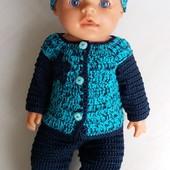 Одежда для кукол Baby Born Бирюза-ручная работа
