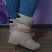 Женские ботинки сапоги дутики угги зимние Camel Версаче Versace
