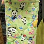 Детское стеганное одеяло с подушкой (силикон) цвета в ассортименте
