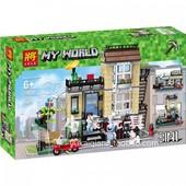 Конструктор майнкрафт Minecraft Lele 33038 домик в городе 3в1