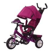 Трехколесный велосипед Tilly Trike (T-346 Фиолетовый) с пенополиуретановыми колесами