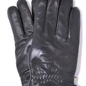 Мужские кожаные перчатки на белом меху