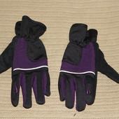 Фирменные утепленные велоперчатки Crivit Gel windstopper lady 7 р.