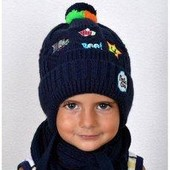 Зимняя шапка, п/шерсть, флис,